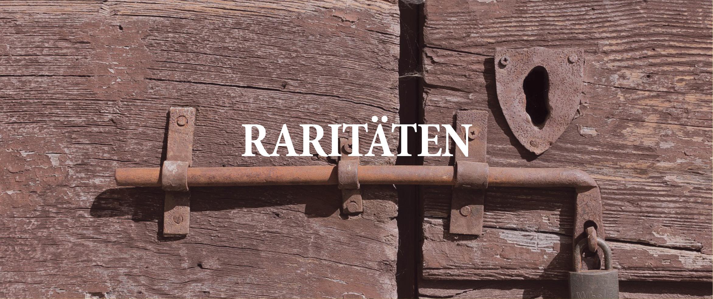 raritaeten banner schrift