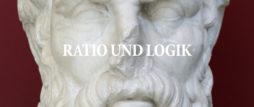 ratio und logik banner schrift